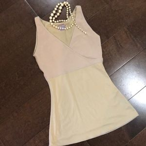 Spandex. Shape wear tan tank S.Small